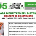 Participem a la III Diada d'entitats del Districte V